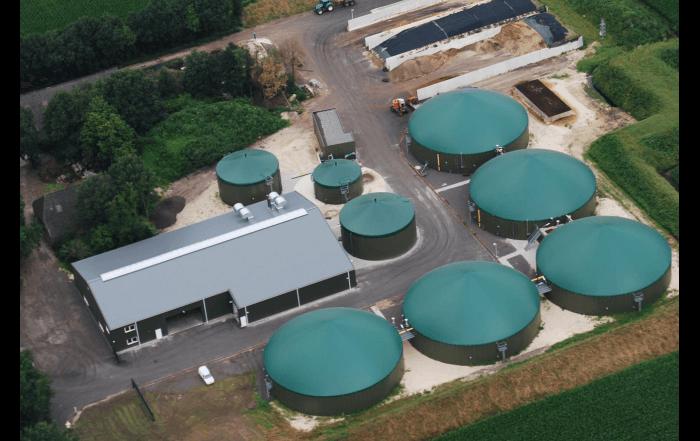 Biovergister Hulter in Anerveen. Energie uit biomassa