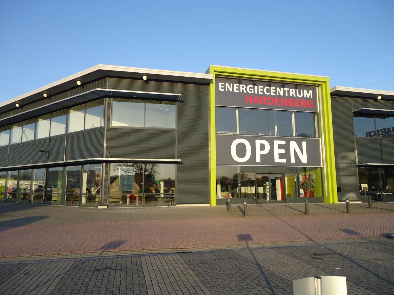 Voorkant pand Energiecentrum Hardenberg-DGB Energie