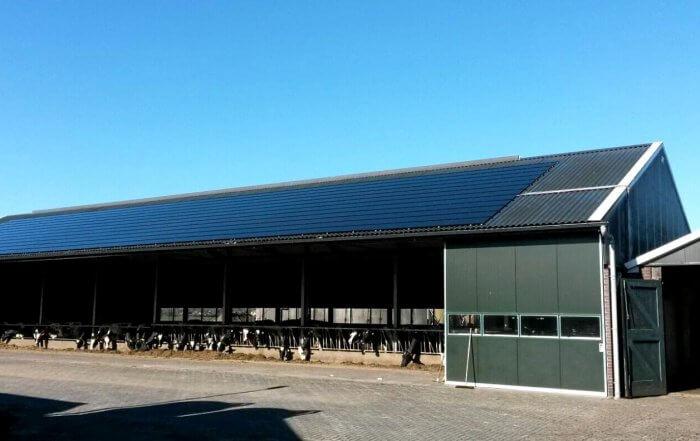 Opbrengst zonnepanelen melkveehouderij van Eck